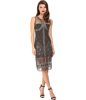 Unique Vintage - Beaded Mesh Tank Flapper Dress