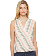 Brigitte Bailey - Billie Sleeveless Draped Button Up Top