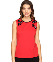 Calvin Klein - Shell w/ Applique Knit Sleeveless