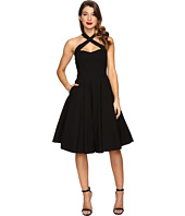 Unique Vintage - Crisscross Neck Rita Swing Dress