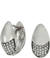 Cole Haan - Half Pave Teardrop Huggie Earrings