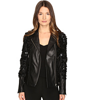 LAMARQUE - Sheryl Sequin Leather Biker Jacket