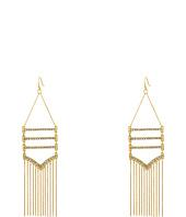 Rebecca Minkoff - Drama Pave + Fringe Chandelier Earrings