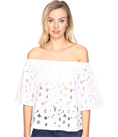 Jack by BB Dakota - Oregano Floral Eyelet Off Shoulder Top with Bra Bandeau Removable Straps