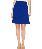 Mod-o-doc - Slub Jersey Short Skirt with Asymmetrical Ruffle