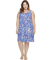 LAUREN Ralph Lauren - Plus Size Knit Short Gown