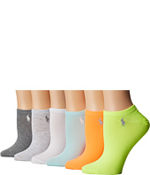 LAUREN Ralph Lauren - 6-Pack Flat Knit Ultra Low Cut Socks