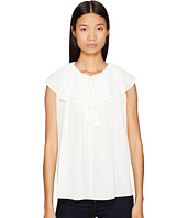 Kate Spade New York - Rambling Roses Tie Neck Silk Top