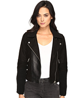 Blank NYC - Suede and Cable Sweater Moto Jacket in Mix and Match