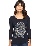 Lucky Brand - Peacock Embellished Tee