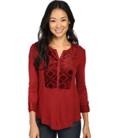 Lucky Brand - Burnout Velvet Bib Top