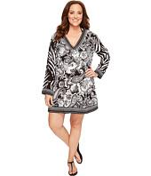 La Blanca - Plus Size Sevilla Scarf V-Neck Tunic Cover-Up