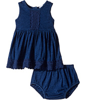 Splendid Littles - Indigo w/ Lace Trim Dress (Infant)