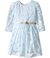 Kardashian Kids - Long Sleeve Burnout Dress with Metallic Belt (Infant)