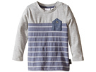 Blocked and Striped Inverted Chambray Pocket Tee (Infant)