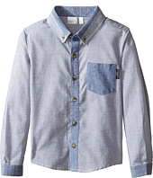 Kardashian Kids - Textured Shirt with Chambray Trim (Toddler/Little Kids)
