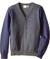 Kardashian Kids - Diamond Intarsia Knit Cardigan (Toddler/Little Kids)