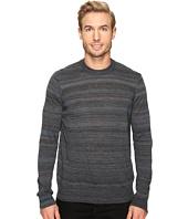 Thomas Dean & Co. - Faded Stripe Merino Blend Crew Sweater