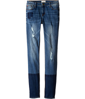 Hudson Kids - Five-Pocket Skinny with Patchwork and Destruction Jeans in Faze Blue (Big Kids)