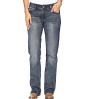 Rock and Roll Cowgirl - Boyfriend Bootcut Jeans in Dark Vintage W2-9626