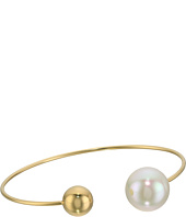 Majorica - 14mm Pearl & Bead Plated Bangle Bracelet