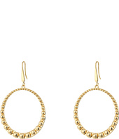 Steve Madden - 40mm Beaded Design Hoop Earrings