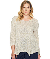 B Collection by Bobeau Curvy - Plus Size Langley Hanky Hem Top