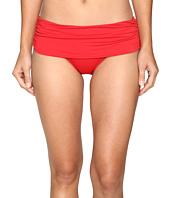 LAUREN Ralph Lauren - Beach Club Solids Wide Shirred Banded Hipster Bottom