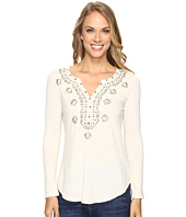 Lucky Brand - Embellished Bib Top