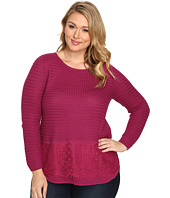 Lucky Brand - Plus Size Lace Mix Sweater