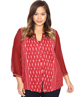 Lucky Brand - Plus Size Border Print Top