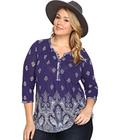 Lucky Brand - Plus Size Placed Paisley Print Top