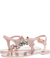 Dolce & Gabbana - Carretto Jelly Sandal with Swarovski Crystals