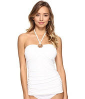 MICHAEL Michael Kors - Villa Del Mar Logo Ring Shirred Bandini Top