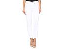 Roxanne Ankle w/ Raw Hem in White Fashion