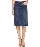 7 For All Mankind - Mini Skirt w/ Released Hem in Eden Port