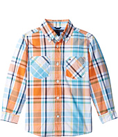 Tommy Hilfiger Kids - Sebastian Plaid Long Sleeve Woven Shirt (Toddler/Little Kids)