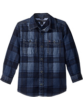 Tommy Hilfiger Kids - Maxwell Printed Denim Shirt (Big Kids)