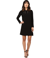 Adrianna Papell - Faggoting Trim Detail Shift Dress