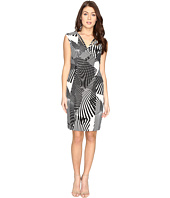Adrianna Papell - V-Neck Cut Out Sheath Dress