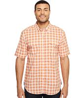 True Grit - Soho Plaid Short Sleeve Two-Pocket Shirt Stitch Detail Vintage Washed