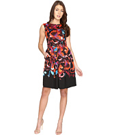 Maggy London - Techno Blossom Scuba Fit and Flare Dress