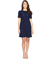 Maggy London - Scuba Crepe Elbow Sleeve Fit and Flare Dress