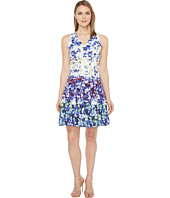 Maggy London - Pansy Meadow Stripe Cotton Fit and Flare Dress