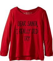 The Original Retro Brand Kids - Dear Santa I Really Did Try Long Sleeve Pullover (Little Kids/Big Kids)
