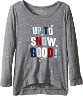 The Original Retro Brand Kids - Up To Snow Good Long Sleeve Tri-Blend Pullover (Little Kids/Big Kids)