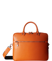 BUGATCHI - Saffiano Leather Two-Tone Briefcase