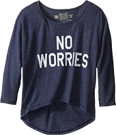 The Original Retro Brand Kids - No Worries 3/4 Dolman Pullover (Big Kids)