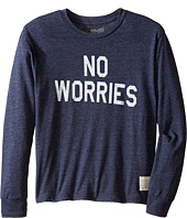 The Original Retro Brand Kids - No Worries Long Sleeve Tri-Blend Tee (Big Kids)