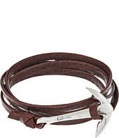 Miansai - Silver Anchor on Leather Bracelet